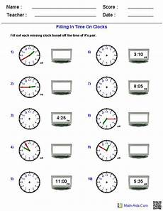 reading analog and digital clocks worksheets math aids com pinterest clock clock