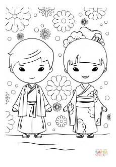 japanese colors worksheet 19483 kokeshi dolls coloring pages at getcolorings free printable colorings pages to print and color