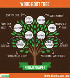 meaning definition of form root word and words based on form