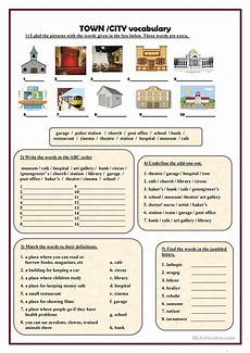town worksheets 18489 town city vocabulary esl worksheets for distance learning and physical classrooms