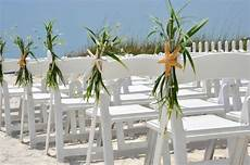 beach wedding aisle chair decoration beach wedding starfish
