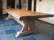 Rustic Oak Bespoke Refectory Table Waney Edges