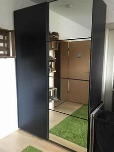 ikea pax auli isleng sliding doors mirror black brown