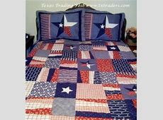 Bedspread   Texas Lone Star Quilt & Pillow Shams   Full