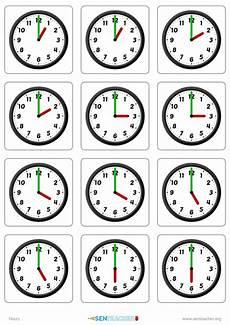 telling time worksheets blank clock faces 2933 sen clocks card pairs printable worksheet