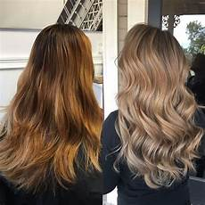blonde hair color ash light brown over orange from brassy orange to ash blonde in one session fancyfollicles