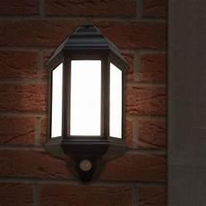 eterna pirhl60bk outdoor black half lantern with pir sensor