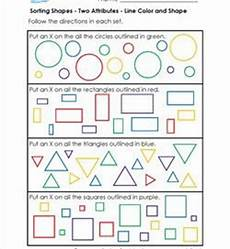 sorting objects by attributes worksheets 7746 sorting shapes w two attributes 1st grade geometry worksheets