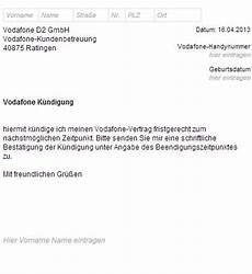 handy kündigung muster k 252 ndigungsschreiben handyvertrag zum herunterladen