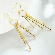 tiaria earrings ake070 aksesoris anting lapis emas earring yellow elevenia