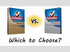 Turbo Tax Premier Vs Deluxe Best Deal