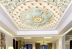 flower wallpaper ceiling 3d ceiling wall paper flower relief wallpaper for walls 3