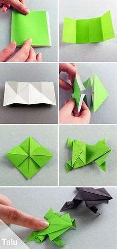 Origami Frosch Falten Aus Papier Geldschein Basteln
