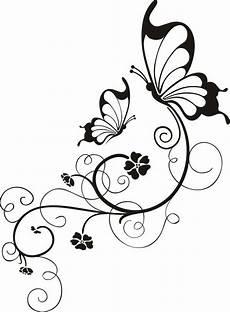 Ausmalbilder Schmetterling Auf Blume Tattoovorlage Frauen Schmetterlinge Und Stilisierte Blumen