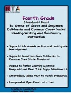 fourth grade standards maps california literacy standards