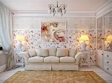 White Brown Living Room Interior Design Ideas