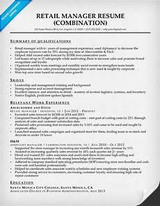 retail manager resume sle writing tips resume companion