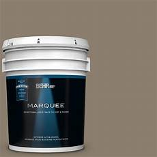 behr marquee 5 gal 720d 5 mocha accent satin enamel exterior paint and primer in one 945305