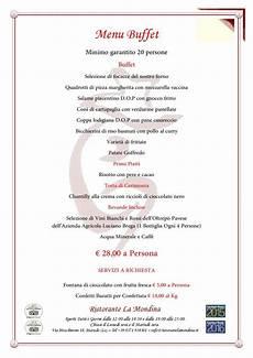 menu per banchetti 249 banchetti a buffet ristorante la mondina