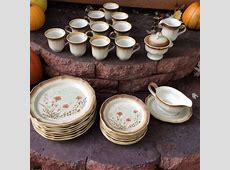 Vintage mikasa whole wheat dish set dinnerware 8 by