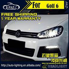 akd car styling headlight assembly for vw golf 6
