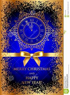 merry christmas happy new year blue background w image 35113700