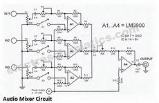 Audio Mixer Schematic Audio Mixer Audio Electronic
