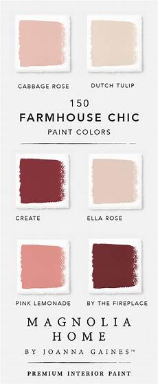 explore the rich and pink shades in designer joanna gaines magnolia home farmhouse paint