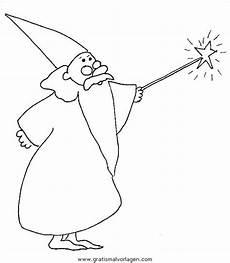 zauberer malvorlagen zauberer 01 gratis malvorlage in fantasie zauberer ausmalen