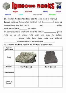 science worksheets on rocks 12343 igneous rocks worksheet teaching resources
