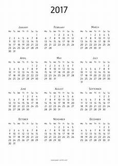Print Calendar 2017 A4 Paper For Free