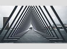 Wallpaper architecture, triangle, structure, people