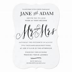 Mr And Mrs Wedding Invitations
