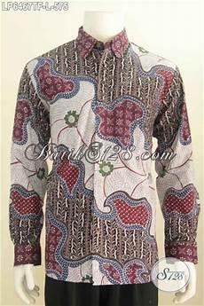 baju batik lelaki kwalitas mewah produk pakaian batik lengan panjang premium berbahan