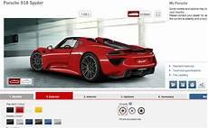 Build Your Porsche 918 Spyder With Official Configurator