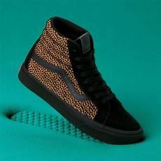 vans comfy cush tiny cheetah sk8 hi reissue sneakers how