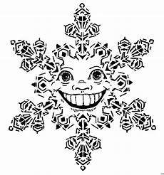 Ausmalbilder Schneeflocken Gratis Schneeflocke Mit Gesicht Ausmalbild Malvorlage Sonstiges