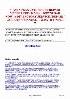 free download parts manuals 1995 nissan pathfinder auto manual 1995 nissan pathfinder repair manual 34 mb diy factory service repair workshop manual 95 path by