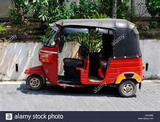 a parked tut tut taxi transport in galle sri lanka