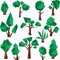 clipart alberi poli clipart basso degli alberi illustrazione vettoriale