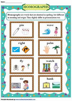 homograph chart language arts standards 4th grade writing