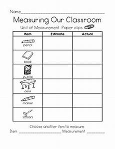 free non standard measurement worksheets for kindergarten 1865 measuring our classroom using nonstandard units by just me in grade