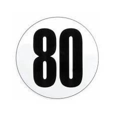 Adh 233 Sif Disque Limitation De Vitesse Poids Lourds 80 Kmh