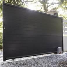 Portail Coulissant En Aluminium Jena L 350 X H 170 Cm
