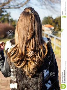 curly female hair behind outdoors stock image image of femininity fashion 49786045