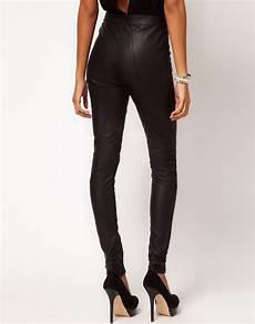 pantalon imitation cuir avec empi 232 cements