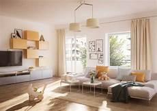 neumodisches wohnzimmer in wei 223 und gelb t 246 nen
