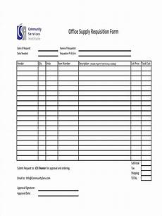 free 8 supply requisition forms in pdf excel