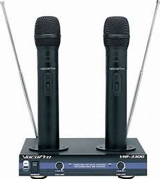 vocopro vhf 3300 2 channel vhf dual rechargeable wireless microphone system 692868833007 ebay