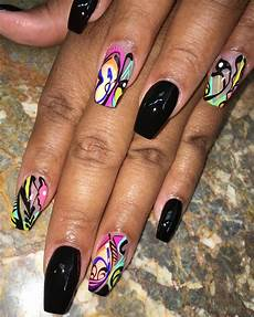28 black stiletto nail art designs ideas design